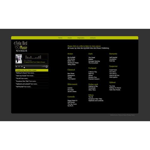 Composer Website Makeover! (no coding req'd)