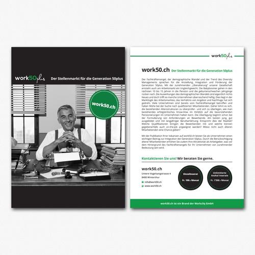 Print design for work50plus