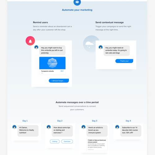 Home page design for chatchamp