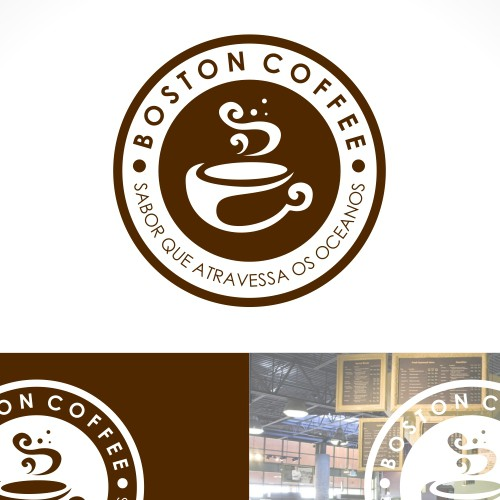 New logo and business card for Boston Coffee