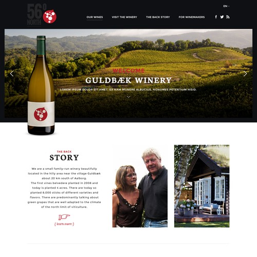 Website for a family winery.