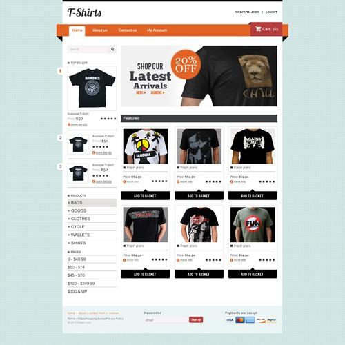 E-commerce Design for T-shirts
