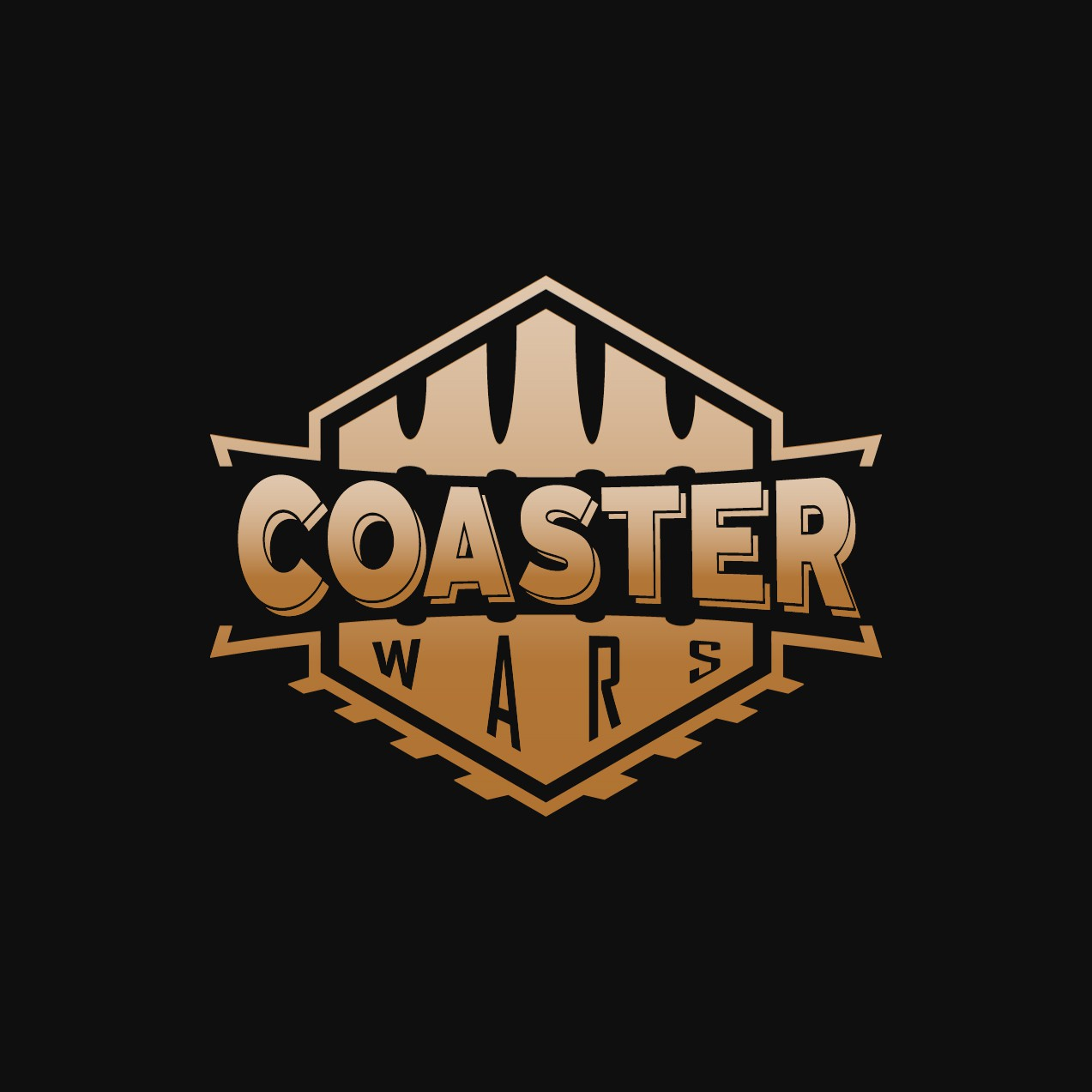 "Create a custom logo for ""Coaster Wars"""