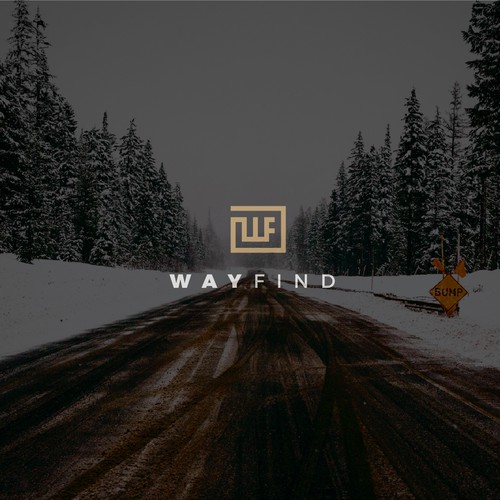 Simple and minimalist logo for Wayfind.