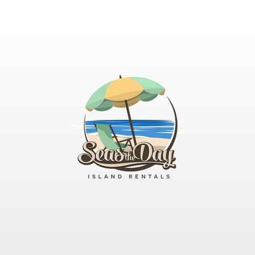 Create a Trendy, captivating logo where you can feel the ocean breeze and sun rays -
