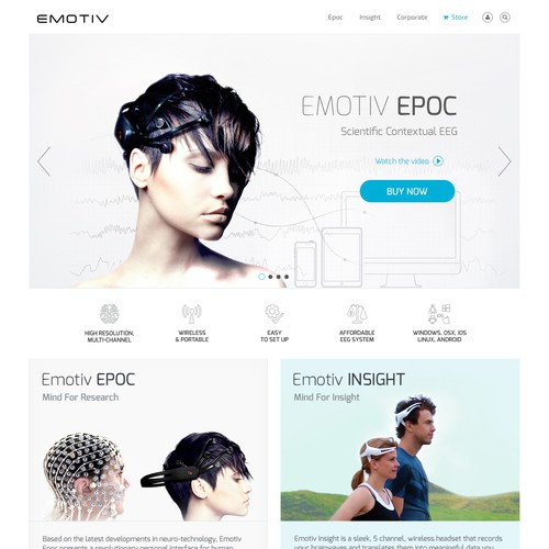 Redesign website for International Award Winning EEG system