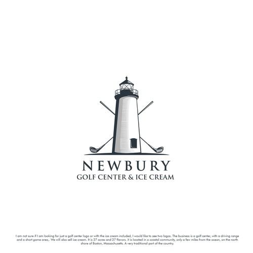 exclusive and classic logo for Newbury Golf Center & Ice Cream