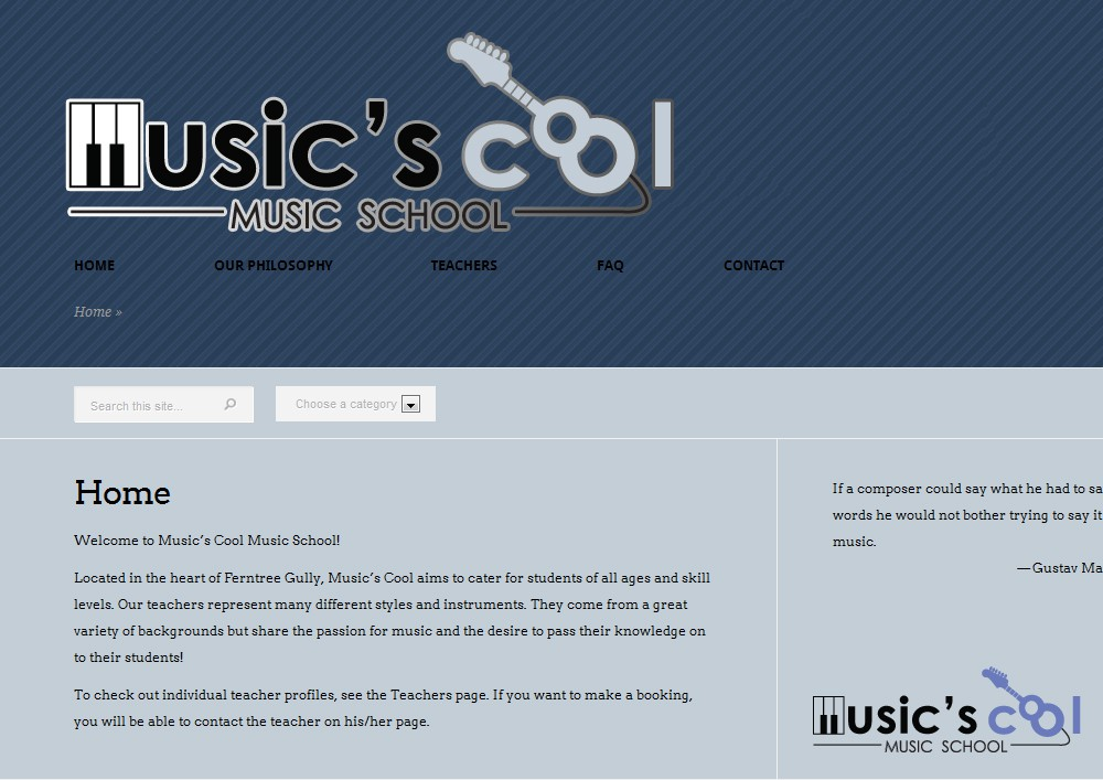 Help Music's Cool  with a new logo