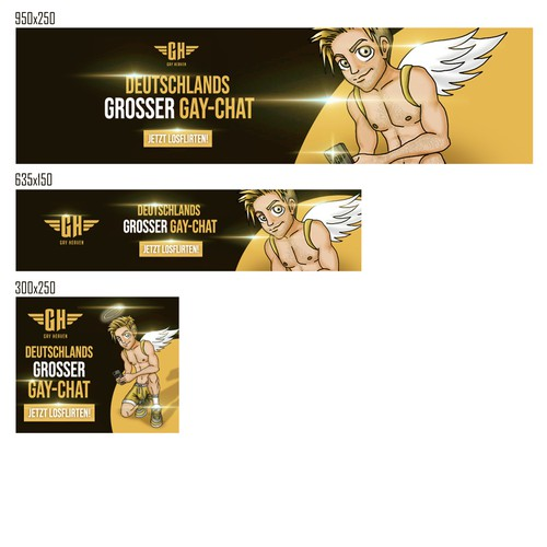 Web Banner Ad Set for Gay-Heaven