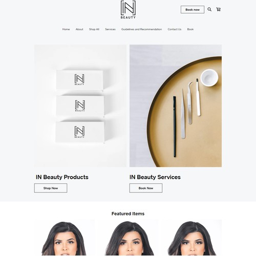 SQUARE ONLINE STORE | Design for IN Beauty