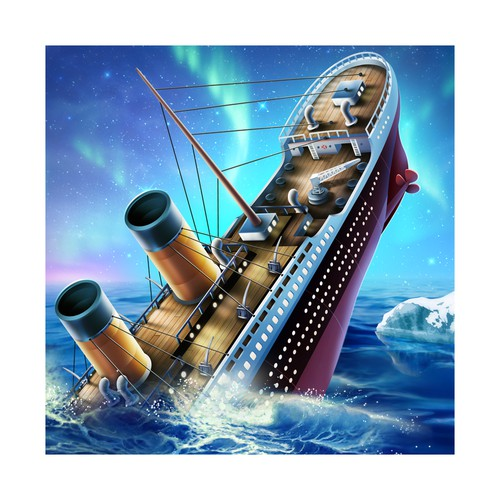 Design an icon of the titanic sinking for Escape Titanic app