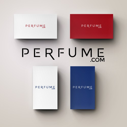 Typographic logo for Perfume.com