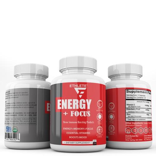 ETHLETE supplement packaging