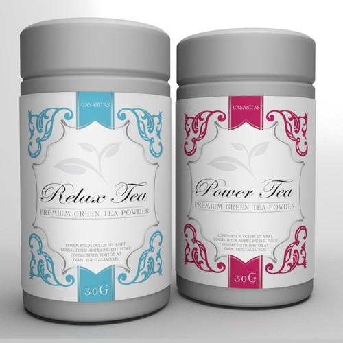 Tea Label Sticker forTea Can / Box