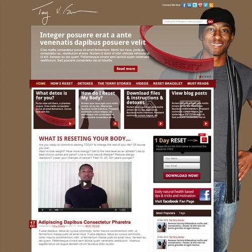 Create the next website design for Reset Your Body with Terry Givens