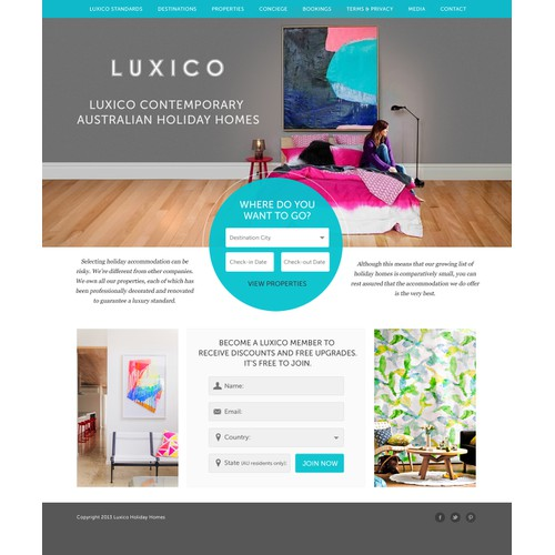 Luxico website design