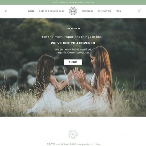 Web Design for Fair trade cotton Co