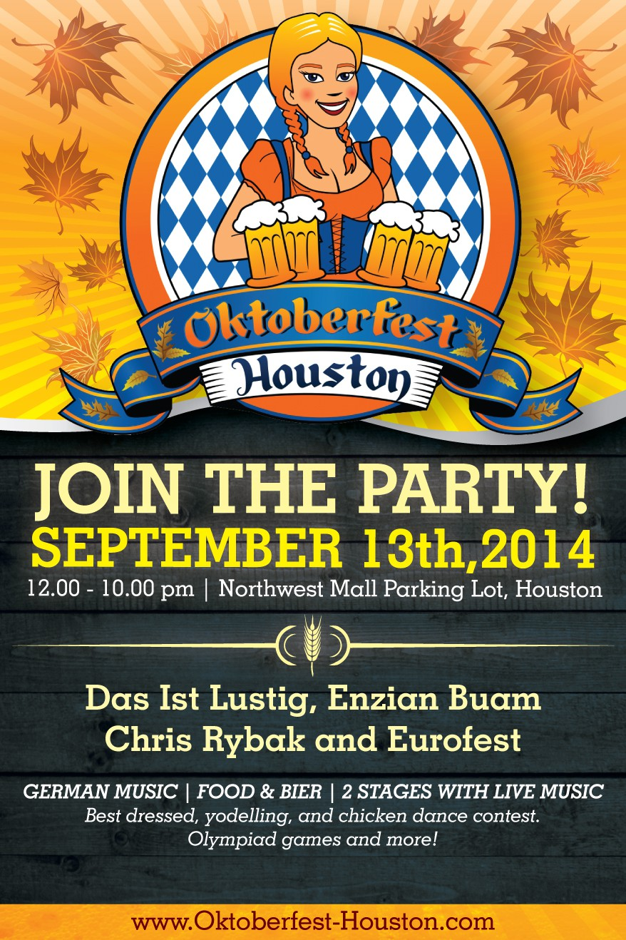 Oktoberfest Houston Flyer Design