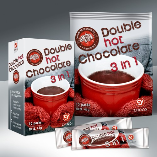 Double hot chocolate (packaging design)
