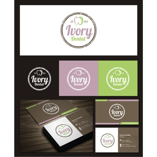 Rustic and modern logo for ivorydental