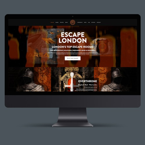 Website design for Escape Games. The world's biggest Escape Games Franchise