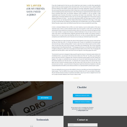 Web Page design for law