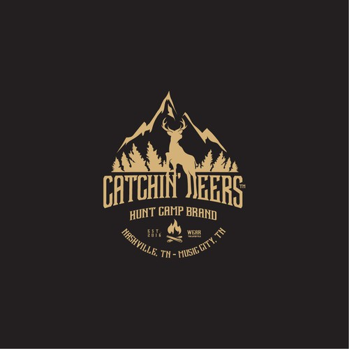 CATCHIN' DEERS Hat Logo