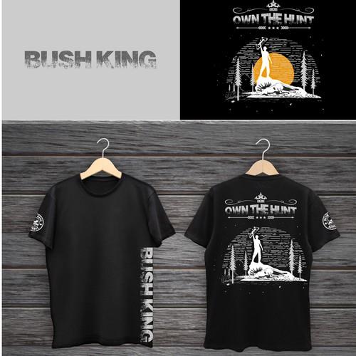 Bush King Apprarel T-Shirt Design- European Moose Skull