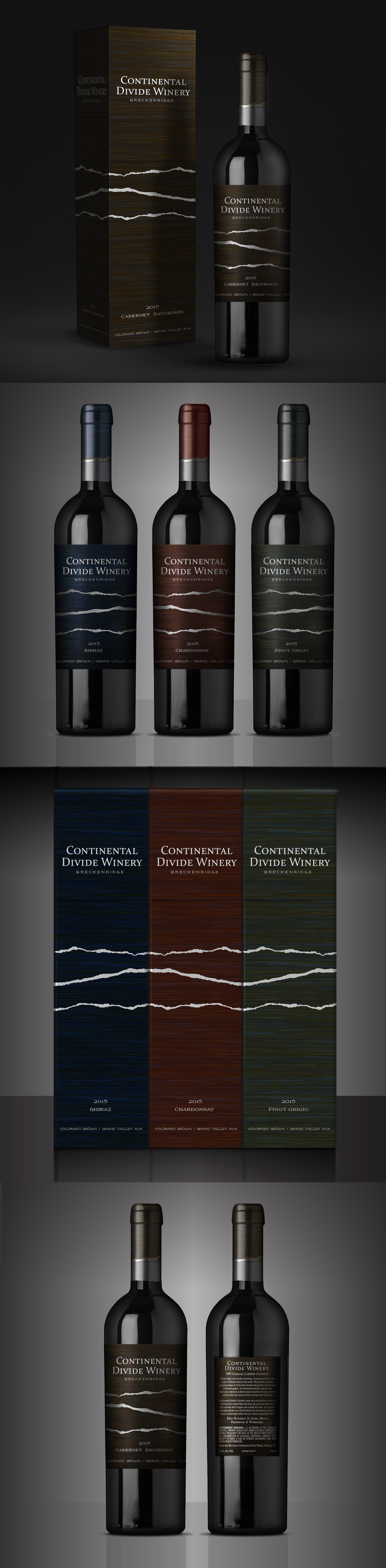 First in a series of clever and attractive wine label designs - additional work likely needed