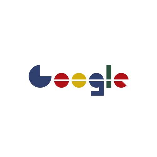 Google logo in Bauhaus style
