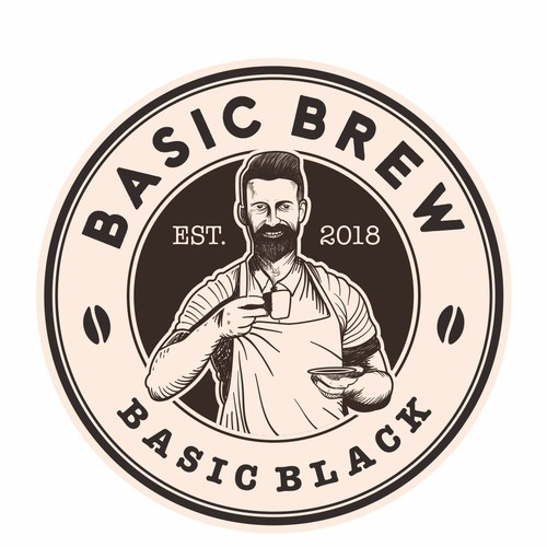 Classic logo concept for Basic Brew