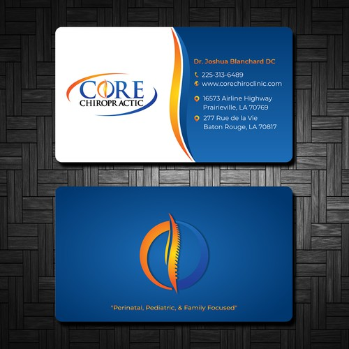 Business Card Design for a Chiropractic Office