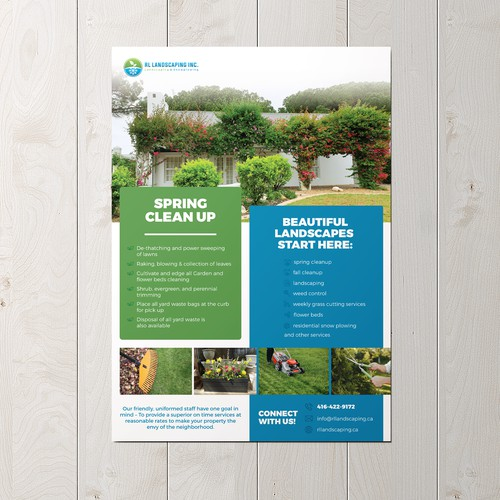 Flyer for landscaping company