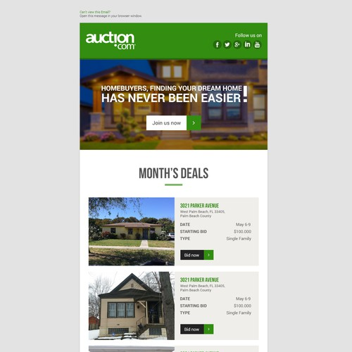 Creative Realestate email design