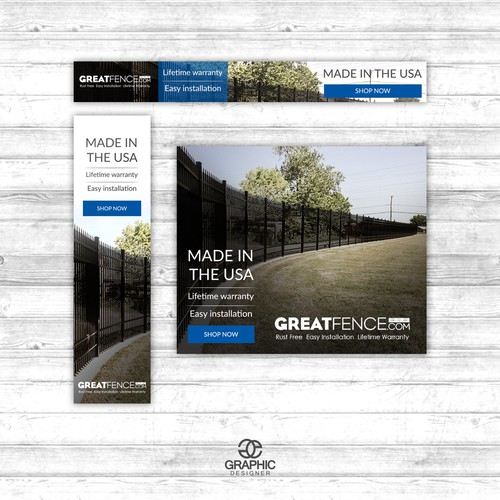 Great Fence ad set