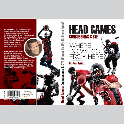 "Cover for book ""HEAD GAMES - Concussions & CTE"""
