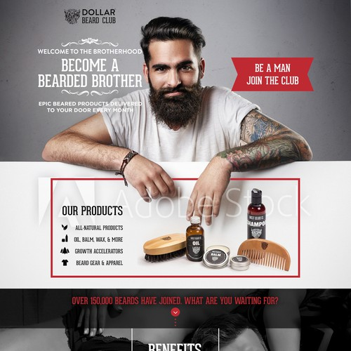 Webdesign for beard products