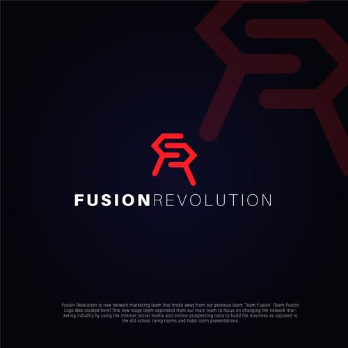 Bold Logo For 'FUSION REVOLUTION'.