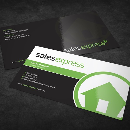Business Card designed for Sales Express.