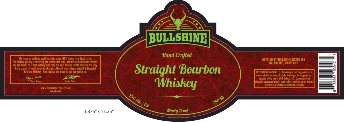 Straight bourbon label