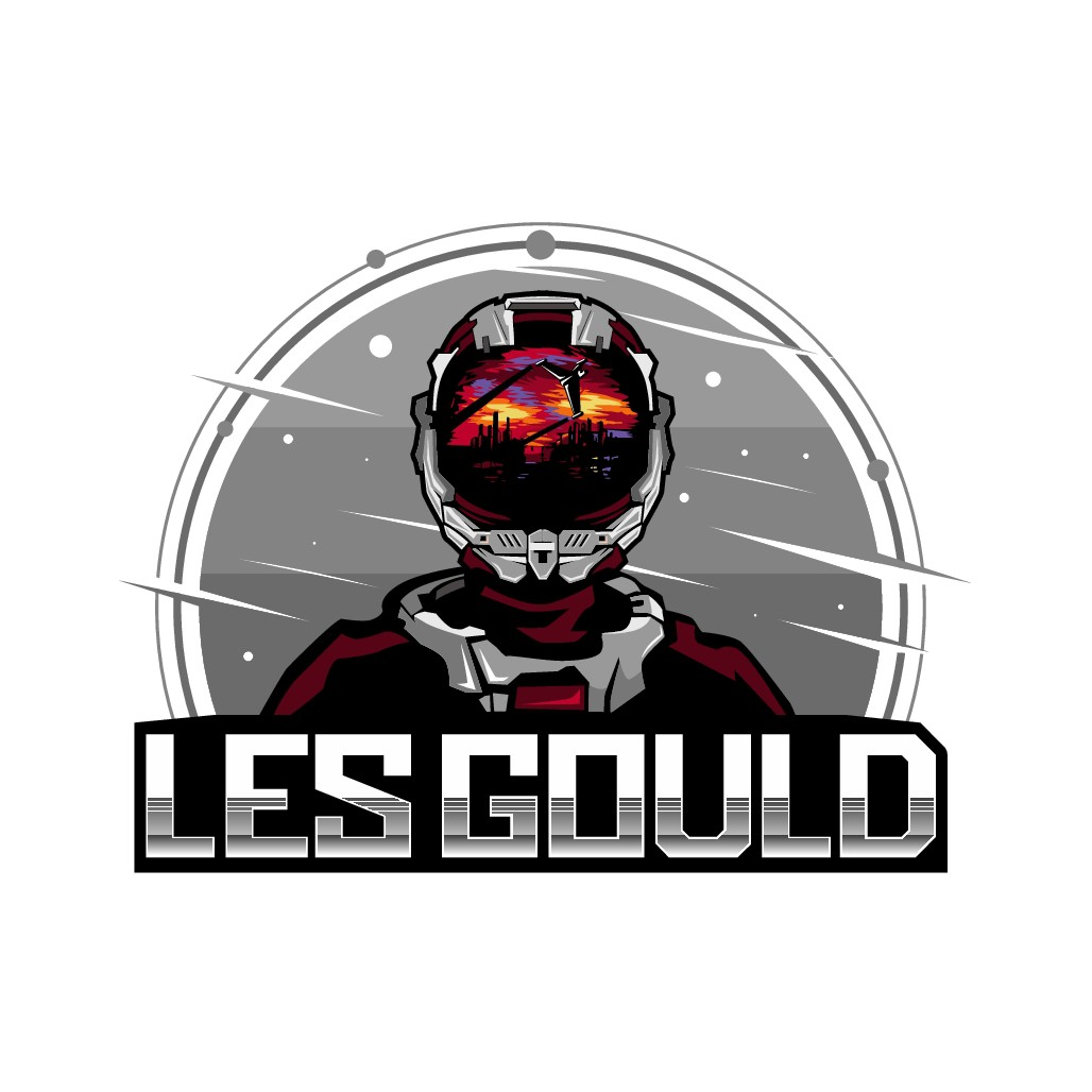 Design a creative logo for Sci-Fi novelist Les Gould