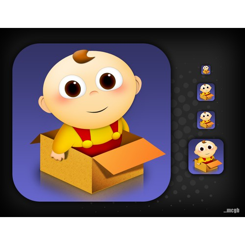 button or icon for Baby In Box