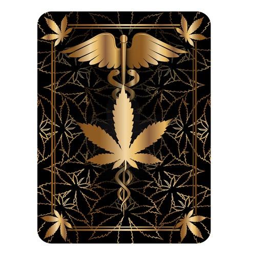 Marijuana back card design