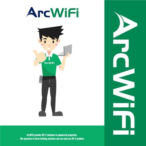 Mascot Logo For A Wifi Company
