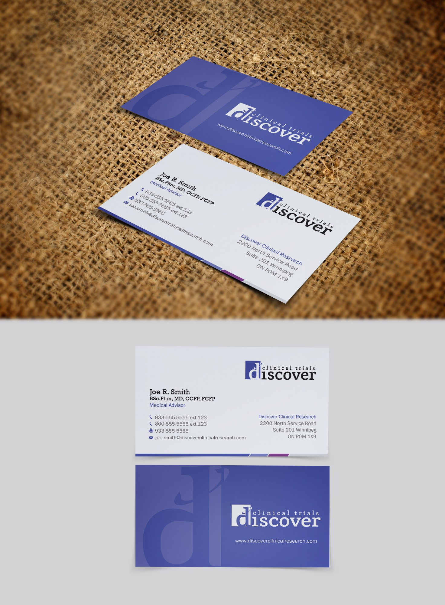 [closed to new designers] Business cards for pharmaceutical marketing company