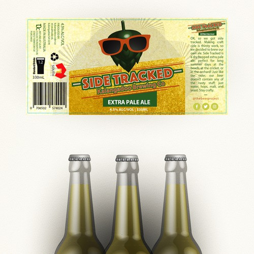 label beer bottle