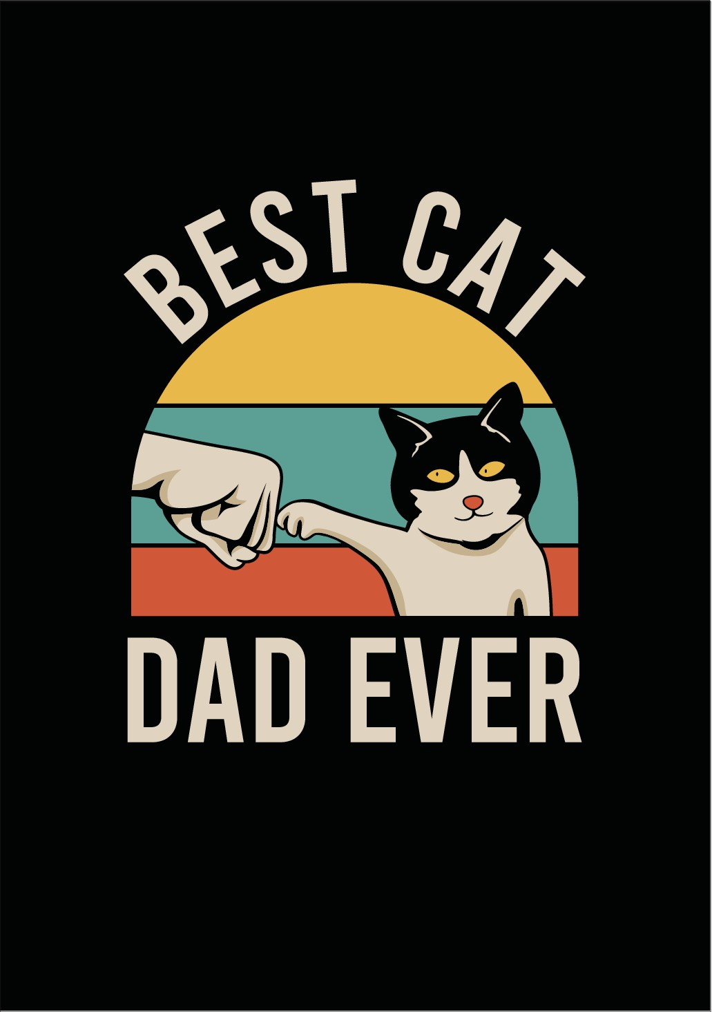Best Cat Dad Ever (With Fist Bump between cat and human)