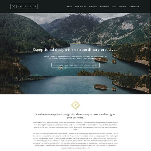 Website Design for Graphic Designer
