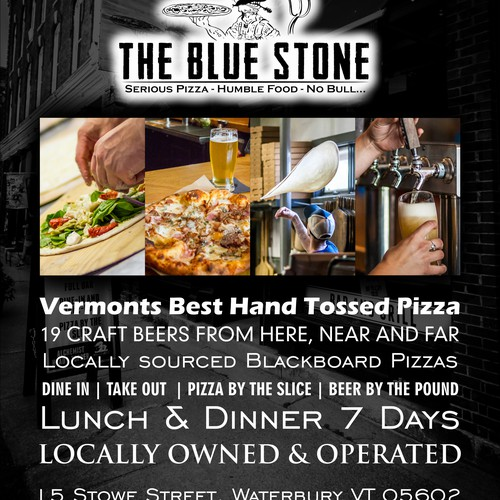 Magazine add for The Blue Stone