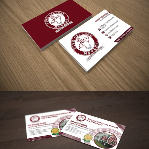 Design Business Card, Brochure, Letter Head/Stationary and Postcard for Moving Company